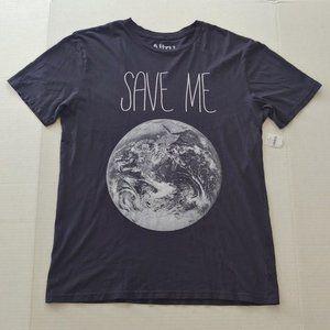 "NWT ""Save me"" Earth graphic tee"